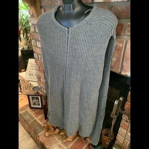 Halogen Grey Lg sweater vest